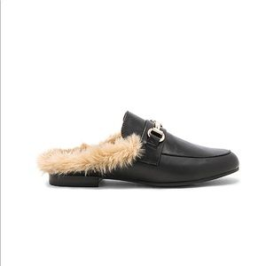 Steve Madden Fur Slides